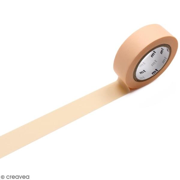 Masking Tape Pastel orange - 15 mm x 10 m - Photo n°1