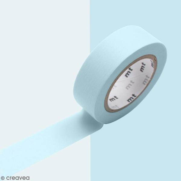 Masking Tape Pastel bleu poudré - 15 mm x 10 m - Photo n°2