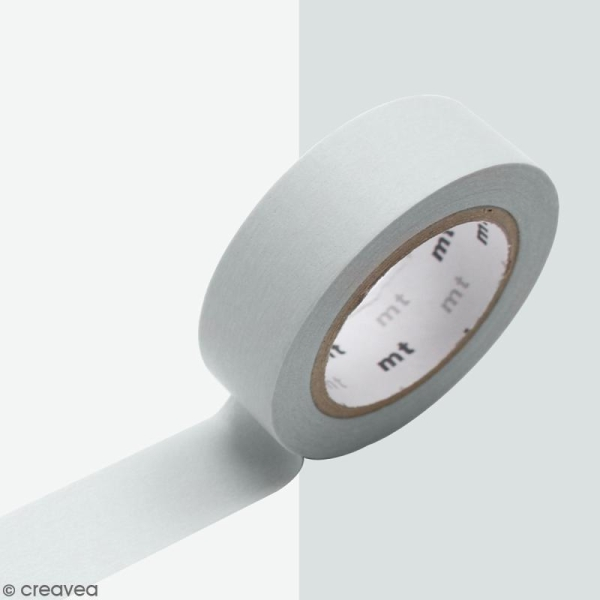 Masking Tape Pastel gris - 15 mm x 10 m - Photo n°2