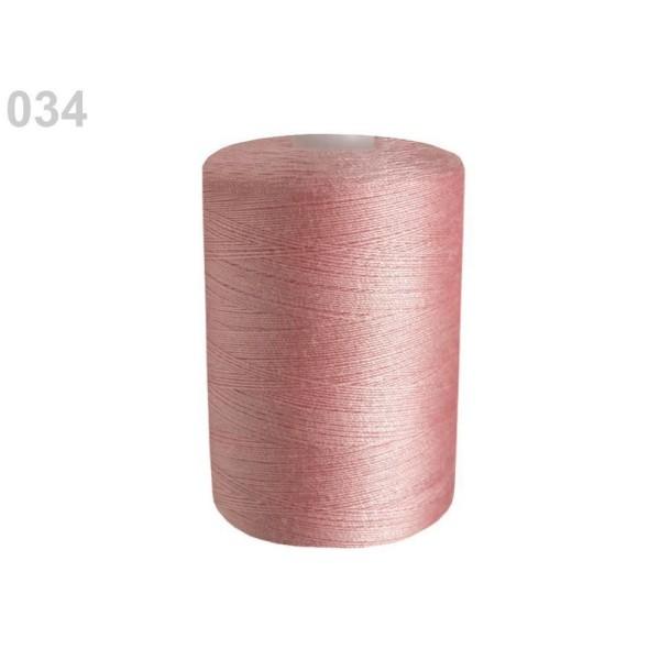 10pc Lumière Rose Polyester Fil à Coudre Pes 40/2 James; 1000m Par Bobine de Fils, Mercerie, - Photo n°1