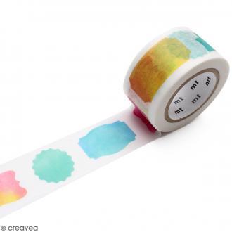 Masking Tape Etiquettes aquarelle - 25 mm x 10 m