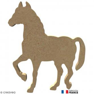 Cheval en Bois à décorer - 11,5 cm