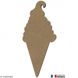 Cornet de glace en Bois à décorer - 14,3 cm