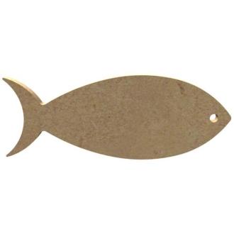 Sardine en Bois à décorer - 11 cm