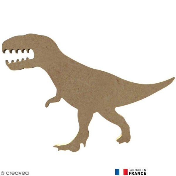 Dinosaure tyrex en Bois à décorer - 17,3 cm - Photo n°1