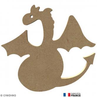 Dragon rigolo en Bois à décorer - 13,6 cm