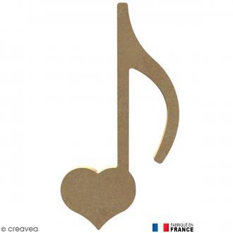 Note coeur en Bois à décorer - 16,7 cm