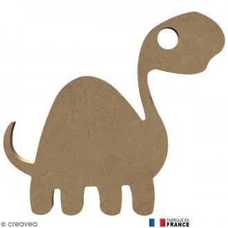 Dinosaure long cou en Bois à décorer - 16,7 cm