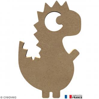 Dinosaure stégosaure en Bois à décorer - 16 cm