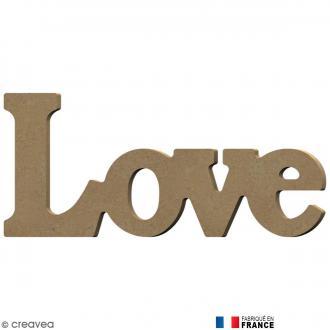 Mot Love en Bois à décorer - 23 cm
