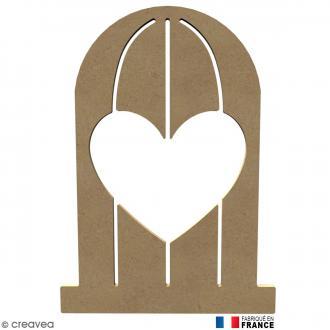 Cage coeur en Bois à décorer - 26 cm