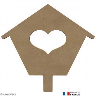 Maison coeur en Bois à décorer - 26 cm