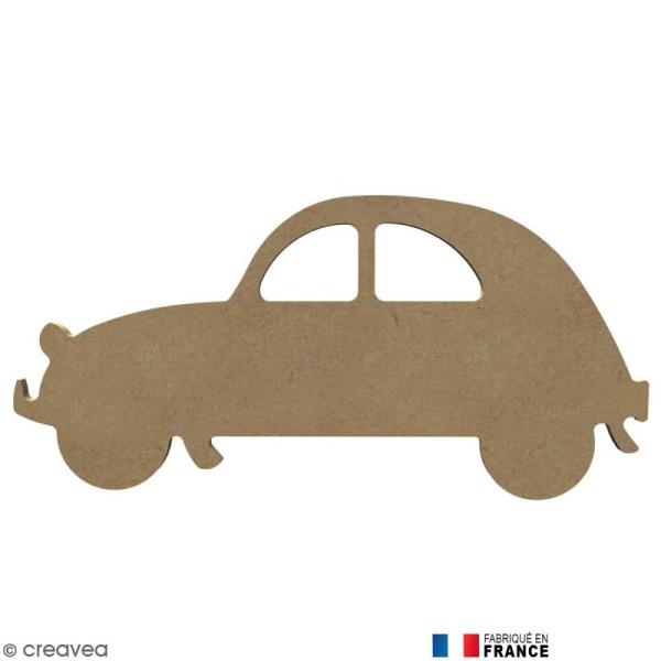 voiture 2cv en bois  u00e0 d u00e9corer - 26 cm