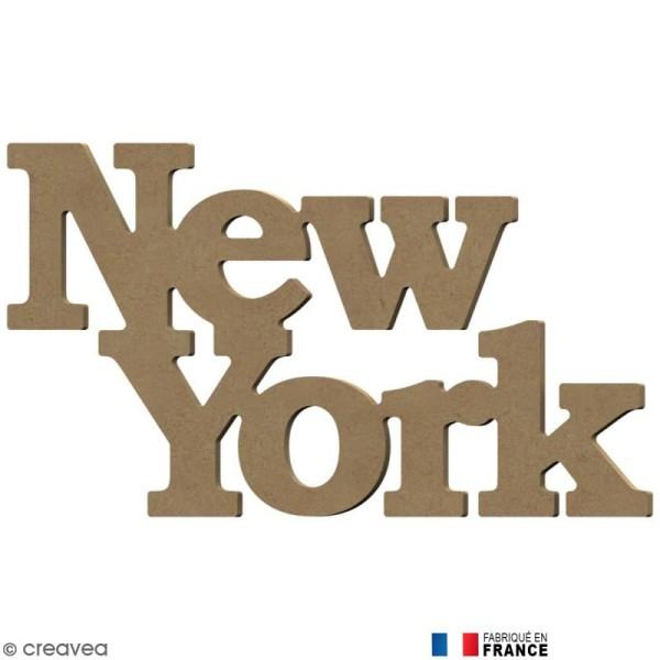 Mot New York en Bois à décorer - 35 cm - Photo n°1