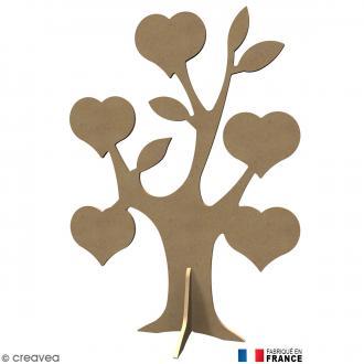 Arbre coeur en Bois à décorer - 58 cm