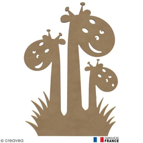 Girafes en Bois à décorer - 58 cm - Photo n°1