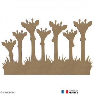 Famille Girafes en Bois à décorer - 58 cm