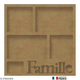 Cadre Famille en Bois à décorer - 40 x 40 cm