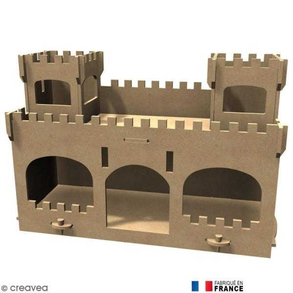 Kit Château fort en Bois à décorer - Photo n°1