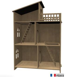 forme en bois suspendre boule de no l biche et cerf 7 cm le no l de creavea creavea. Black Bedroom Furniture Sets. Home Design Ideas
