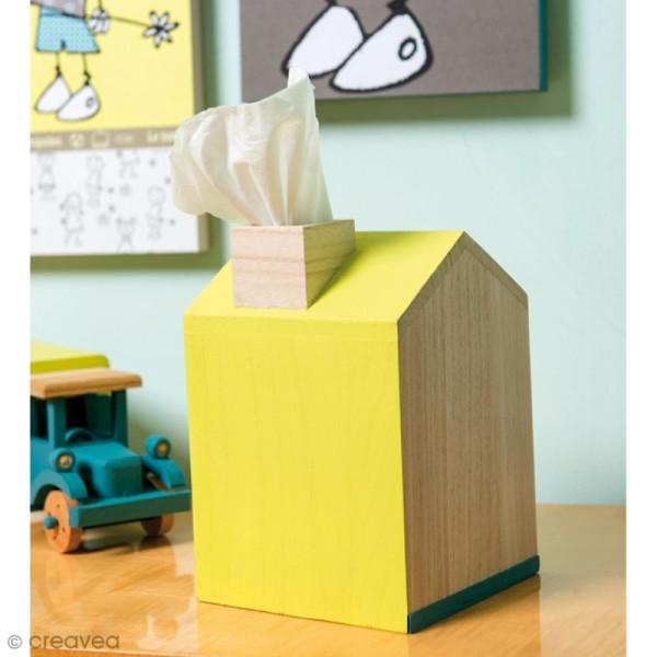 Boîte à mouchoir Maison en bois - 12, 5 x 13 x 18 cm - Photo n°2