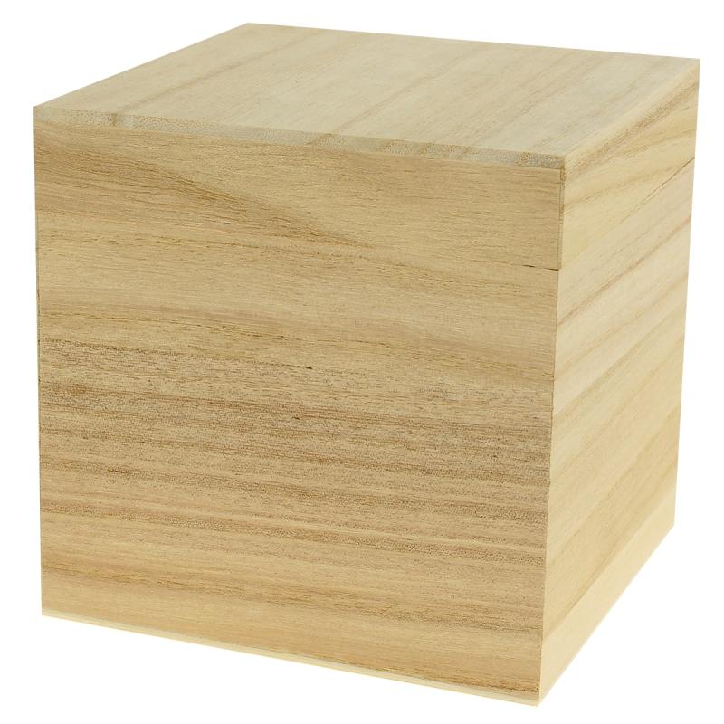 Boîte cube 12 cm à décorer - Photo n°1