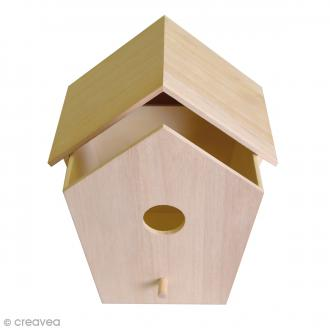 Nichoir à tiroir en bois - 19,5 x 11,8 x 22,5 cm