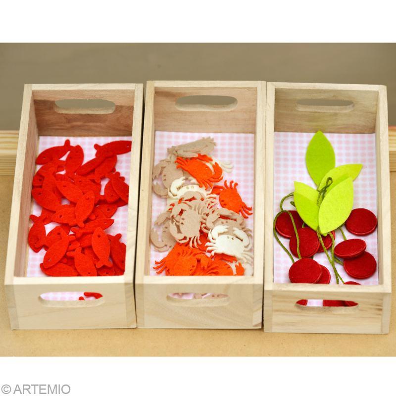 Casier à décorer en bois - 16 / 19 / 21,5 cm - 3 pcs - Photo n°4