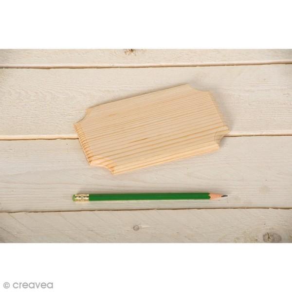 Plaque en bois - 16 x 10 cm - Photo n°2