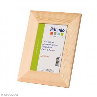 Cadre photo en bois à décorer - 21 x 26 cm