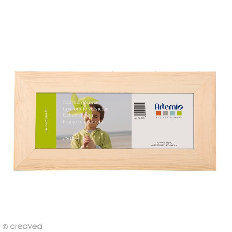 cadre photo en bois d corer 43 x 21 cm cadre photo d corer creavea. Black Bedroom Furniture Sets. Home Design Ideas
