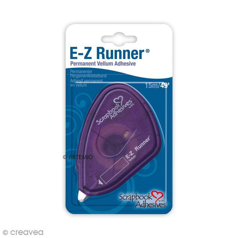 Dérouleur adhésif double-face E-Z Runner Permanent - Calque - 15 m - Photo n°1