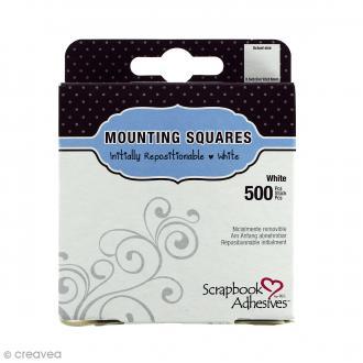 Pastilles adhésives repositionnables carrées 10 mm - 500 pcs
