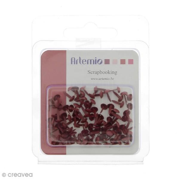 Attaches parisiennes Rondes rouges - 5 mm - 100 pcs - Photo n°1