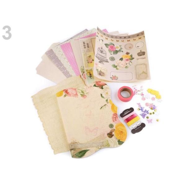 1set 3 Rose Pâle Bricolage Scrapbooking Album Kit Et Accessoires, de décors, de Paperolle, de l'Arti - Photo n°1