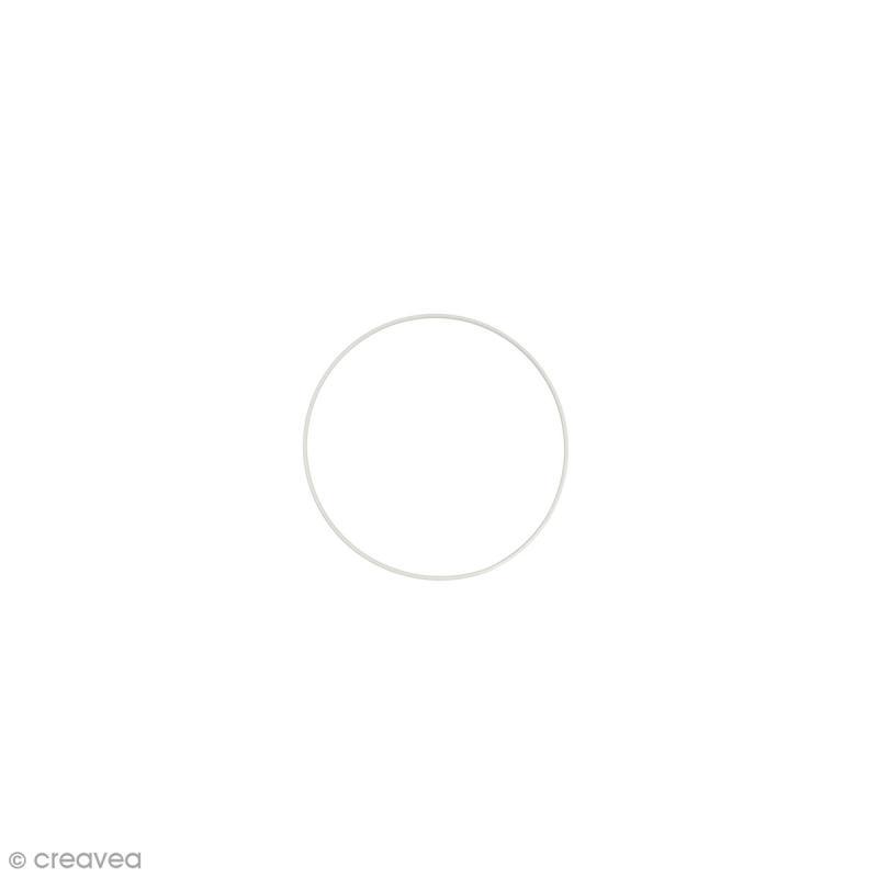 Cercle nu en métal - 8 cm de diamètre - Photo n°1