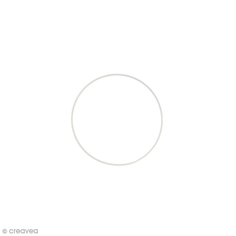 Cercle nu en métal - 10 cm de diamètre - Photo n°1