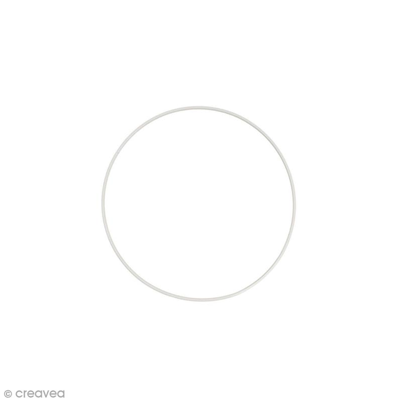 Cercle nu en métal - 12 cm de diamètre - Photo n°1