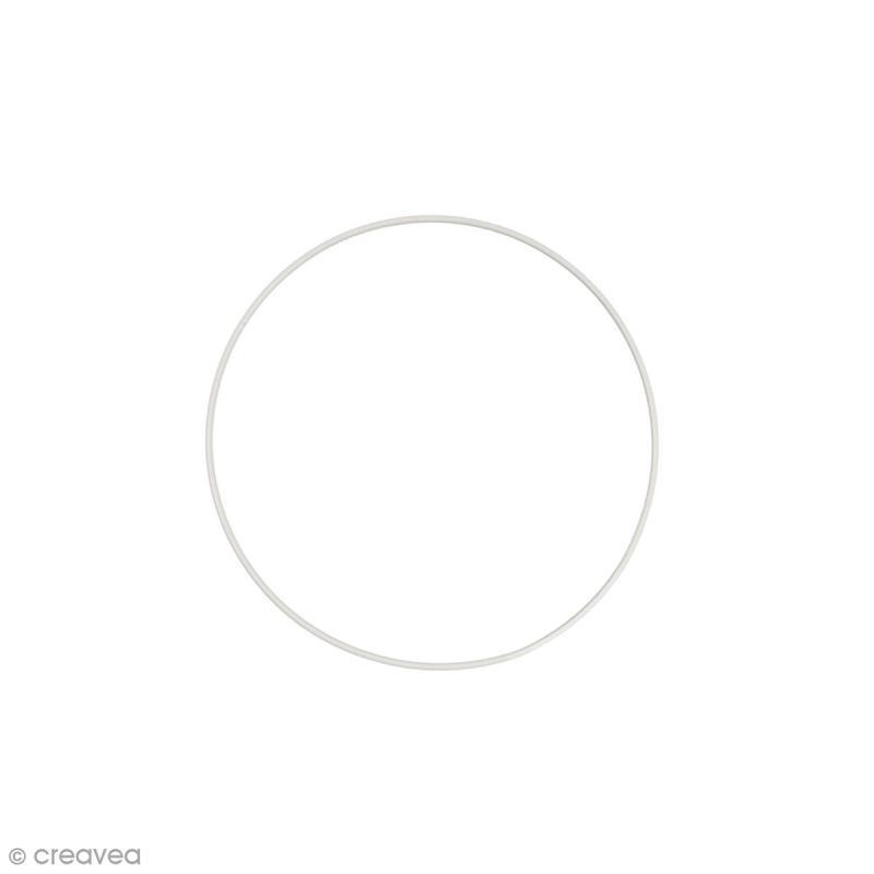 Cercle nu en métal - 15 cm de diamètre - Photo n°1