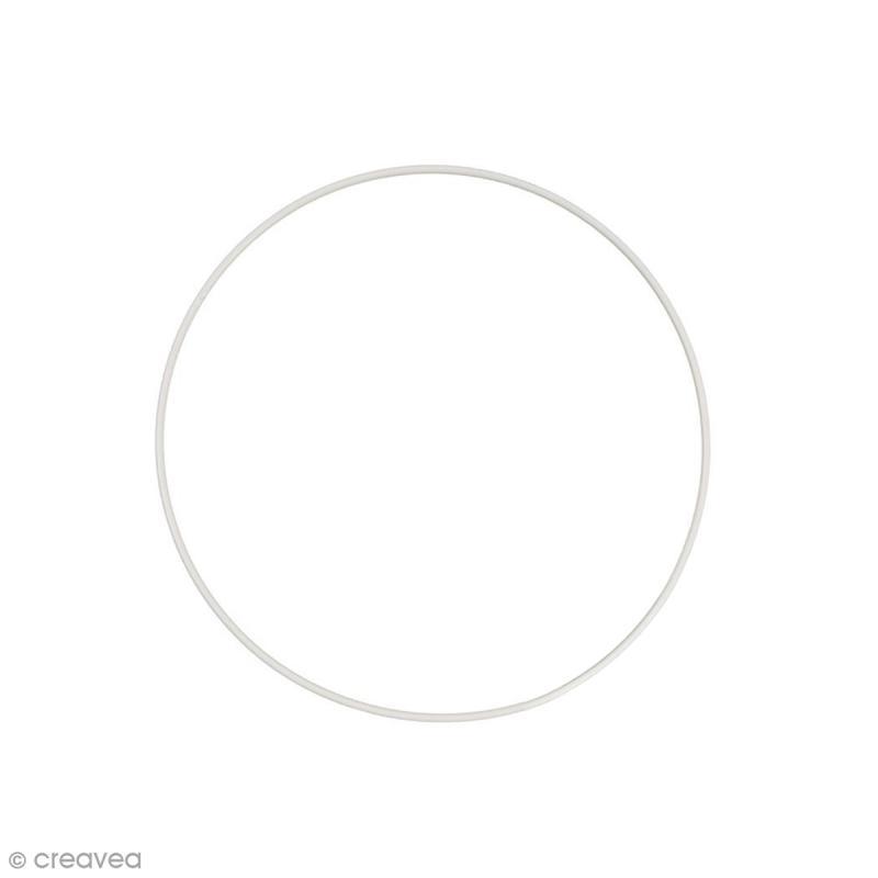 Cercle nu en métal - 20 cm de diamètre - Photo n°1