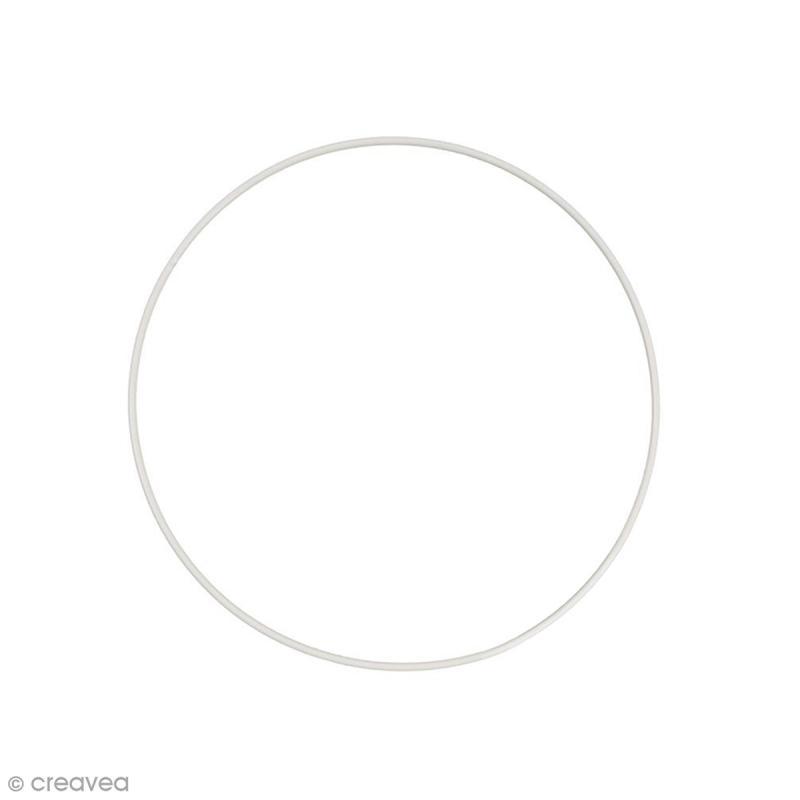 Cercle nu en métal - 22 cm de diamètre - Photo n°1