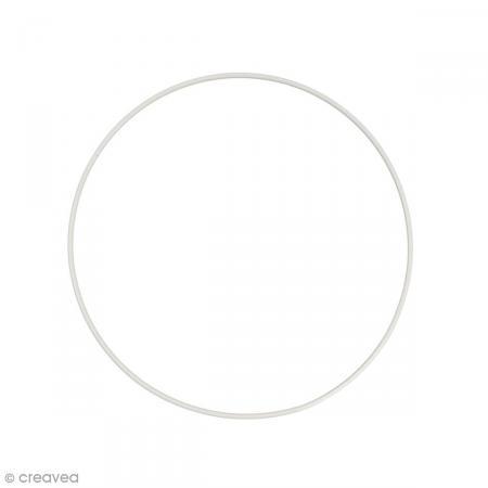 Cercle nu en métal - 25 cm de diamètre - Photo n°1