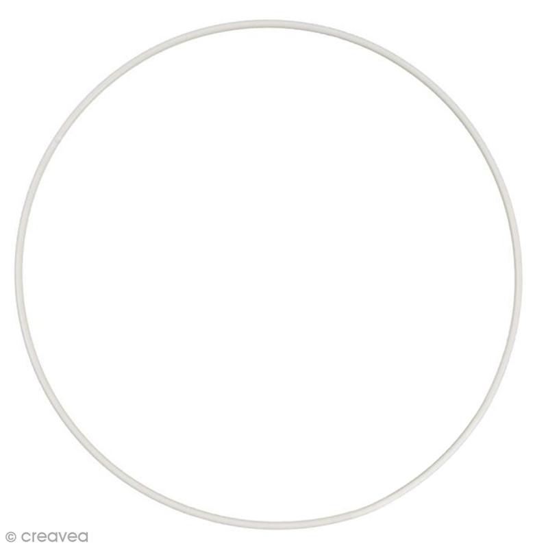 Cercle nu en métal - 50 cm de diamètre - Cercle abat jour - Creavea