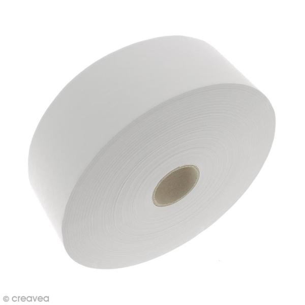 Kraft gommé Blanc - 48 mm x 200 mètres - Photo n°1