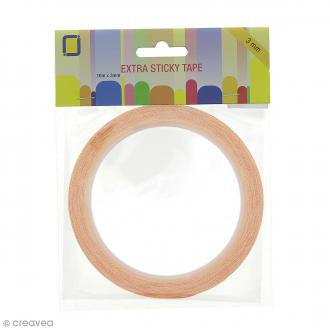 Ruban double face Extra Sticky Tape - 3 mm x 10 m