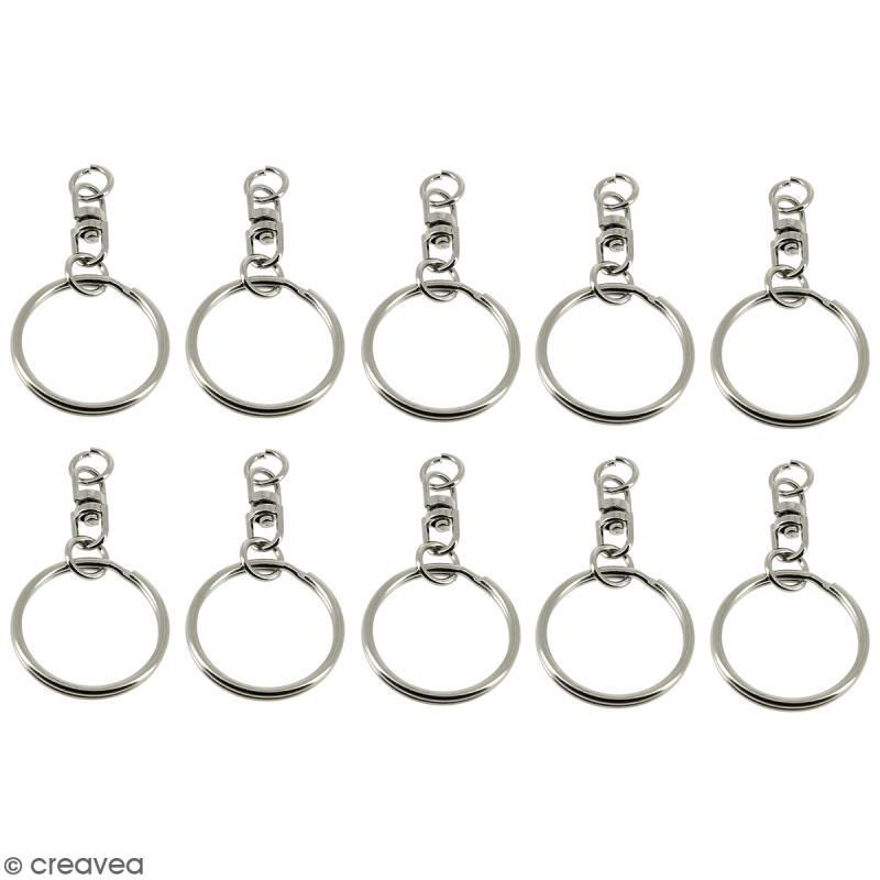 anneaux de porte cl s avec cha nette 10 pcs anneau porte cl creavea
