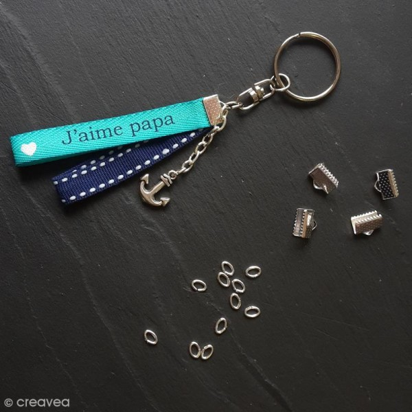 Anneaux de porte clés avec chaînette - 10 pcs - Photo n°2