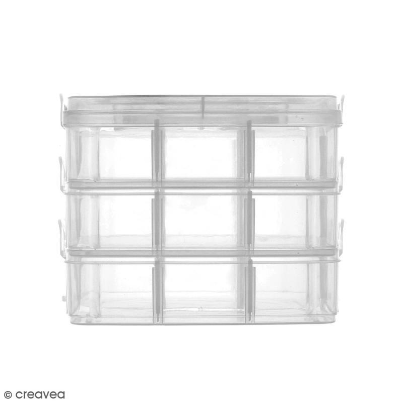 Boîte de rangement à étages - 17 x 15 x 12,5 cm - 18 cases - Photo n°3