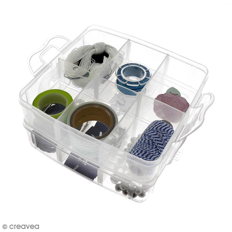 Boîte de rangement à étages - 17 x 15 x 12,5 cm - 18 cases - Photo n°5