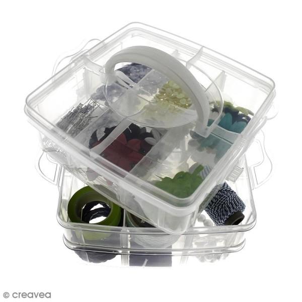 Boîte de rangement à étages - 17 x 15 x 12,5 cm - 18 cases - Photo n°4